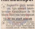NOSTALJİ | MKE Ankaragücü – Kardemir Karabükspor | 8 Şubat 1998
